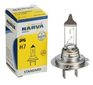 Автолампа NARVA лампа STANDARD 12 V H7 55W PX26d(картон 1шт)
