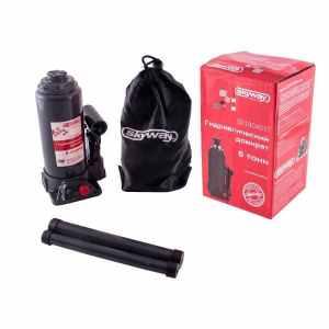Домкрат бутылочный SKYWAY 4т h 180-350мм (с клапаном в коробке+сумка)