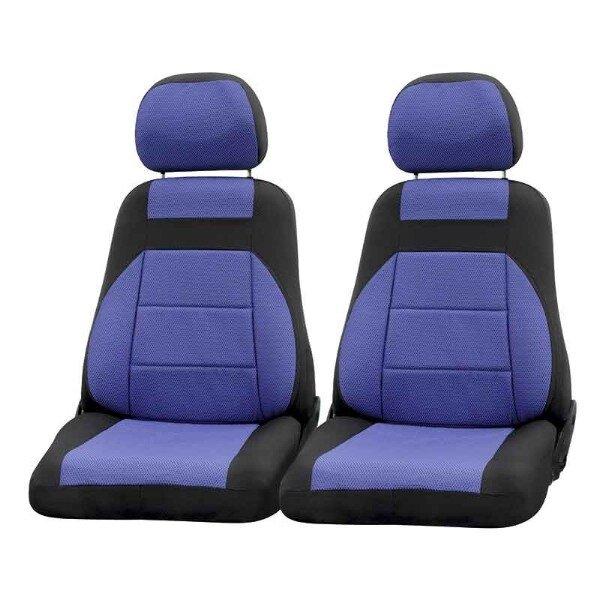 Чехлы сиденья жаккард SKYWAY NIVA ВАЗ-2121 с 2006 3 дверная синий 8 предметов