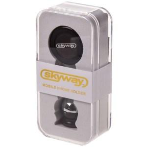 Держатель телефона магнитный на панель SKYWAY металл круглый черный S00303008