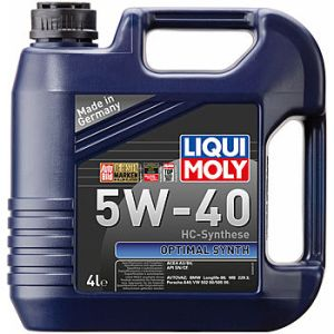 Масло моторное LIQUI MOLY Optimal Synth 5W-40 SN/CF A3/B4 2293 синтетика 5л