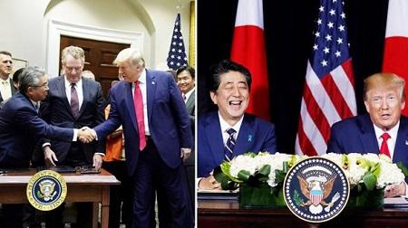 日米貿易協定署名