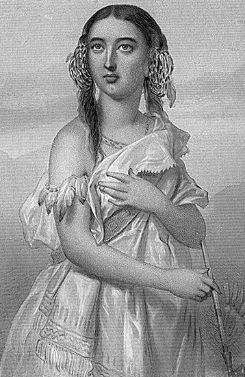 ロマンティックに描かれたポカホンタス