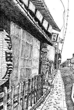 寺田屋の線画