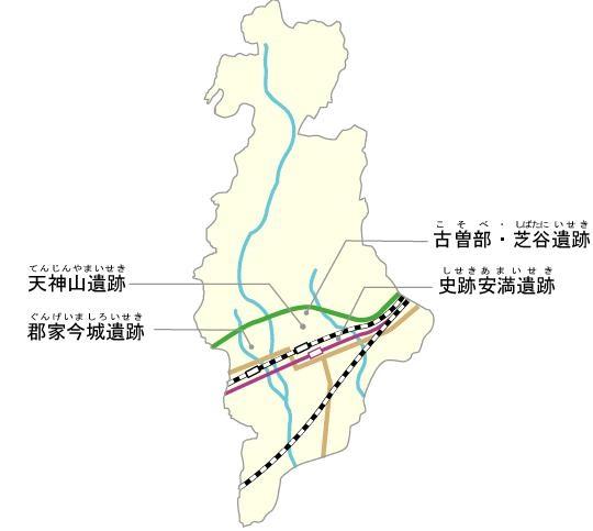 高槻遺跡地図