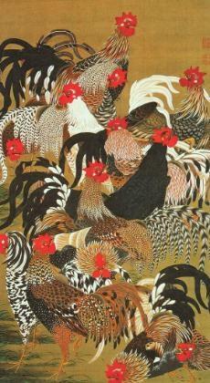 伊藤若冲の鶏図