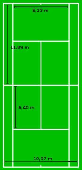 テニスコート寸法