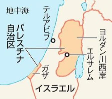 パレスチナ問題・地図