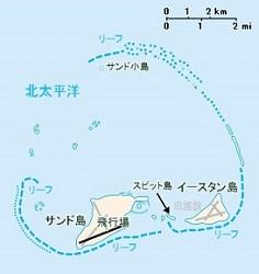 ミッドウェー島地図