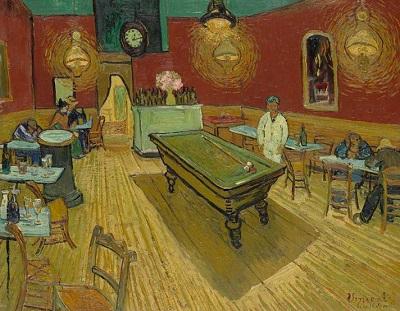 『夜のカフェ』1888年9月、アルル。