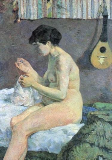 『縫い物をする女』1880年。