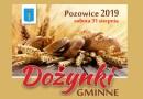 Dożynki Gminne odbędą się w Pozowicach 31 sierpnia