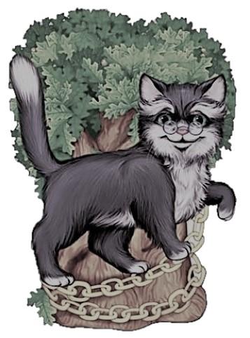 Čerpaná čierna mačička