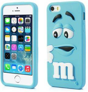 M&M Silicon Case Cover For iPhone 4