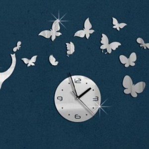 Buy DIY Acrylic Elephant Butterfly Wall Clock