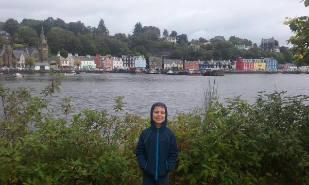 Liam at Tobermory, Isle of Mull