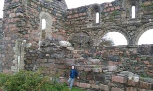 Liam visiting the old nunnery on the Isle of Iona
