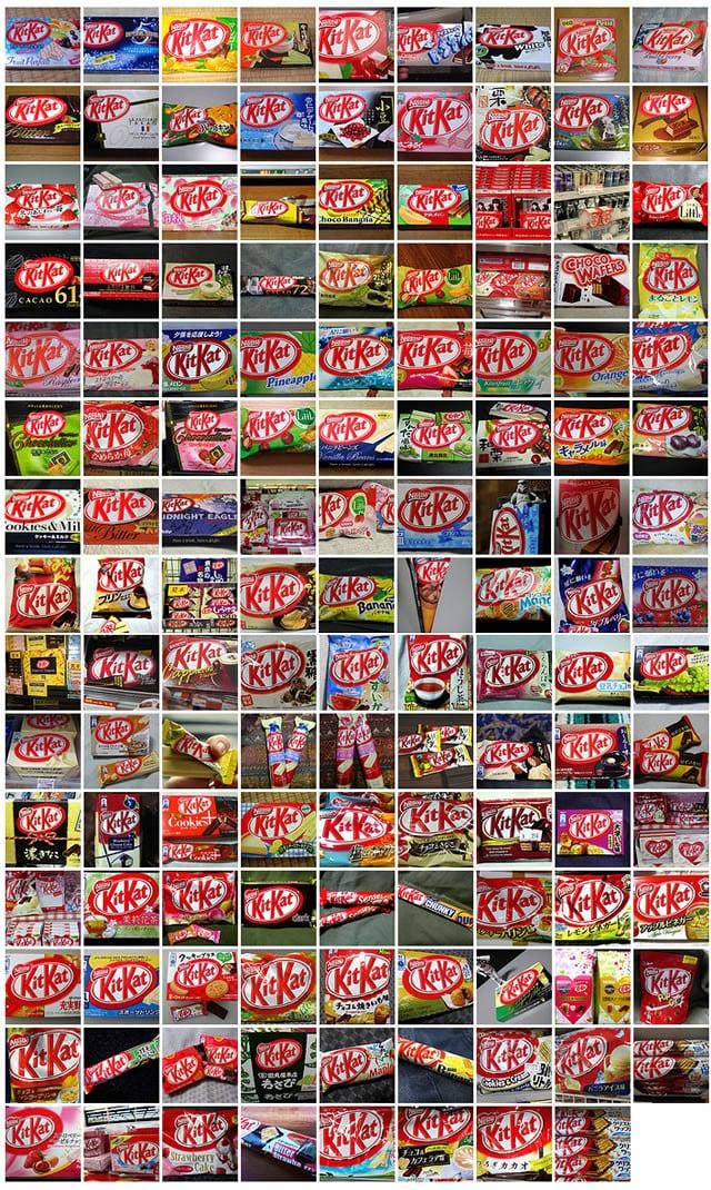 Mais sabores de Kit Kat