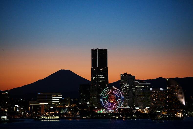 Os melhores locais para ver o Monte Fuji - cidade yokohama fuji 1