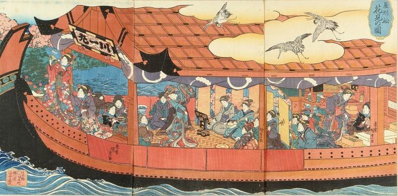 Yakatabune - một con thuyền với tatami
