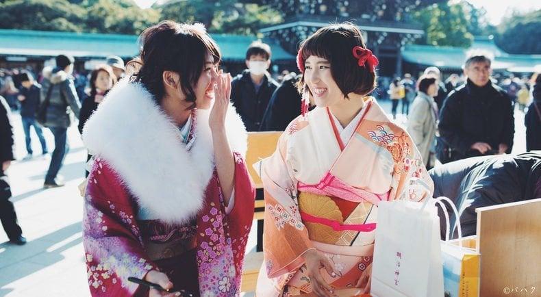 Maioridade no Japão - kimono sorriso japonesas 1
