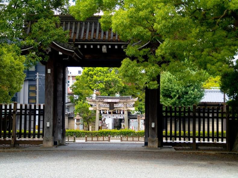O parque e jardim do palácio imperial de kyoto