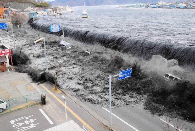 Lista de desastres no Japão por número de mortos - tsunami no japao 1