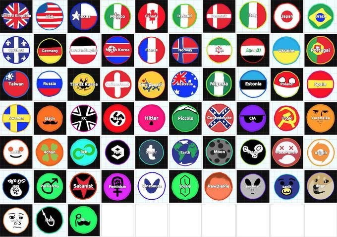 Agar.io - Um Jogo viciante / Lista de nomes para decorar sua bola. - Name list - skins agario 1