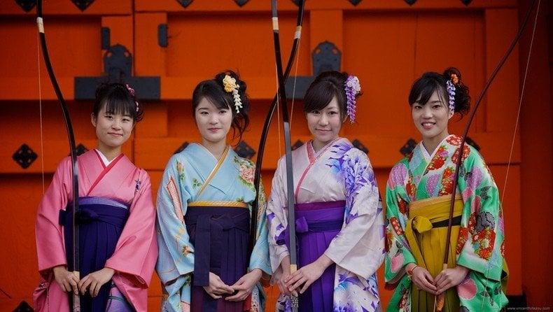 Ocasiões em que se usa um Kimono - kyudo luta japonesa 2