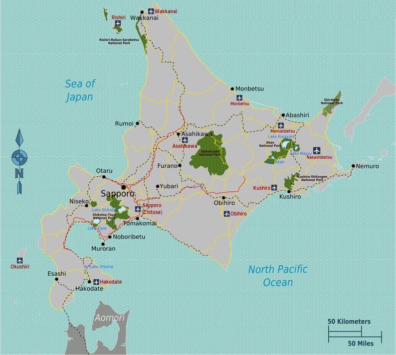 Hokkaido - O caminho do mar e da neve - hokkaido map Credit T Kambayashi 4823 134 1