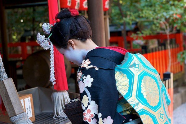 Ocasiões em que deve se curvar no japão