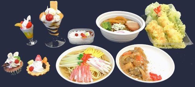 Amostras de alimentos no japão - comida falsa - alimentos coida falsa