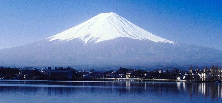 Os 118 vulcões do Japão - monte fuji vista 1