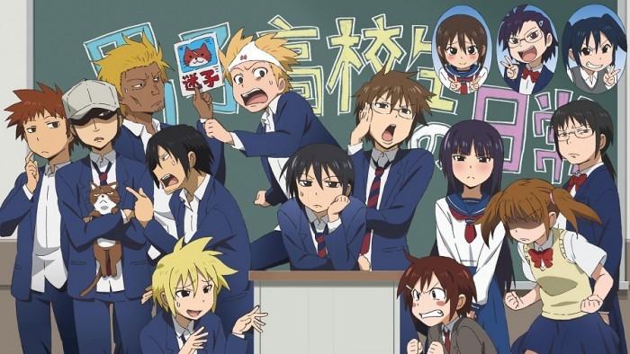 Animes de comédia nonsense + danshi koukousei no nichijou