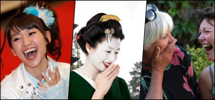 Tại sao phụ nữ Nhật Bản che miệng khi họ đi cười?