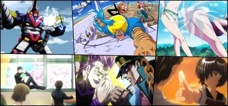 Animes idiotas ridiculos bizarros - samurai flamenco, bobobo, keijo, sakamoto desuga, jojo e nazo no kanojo.