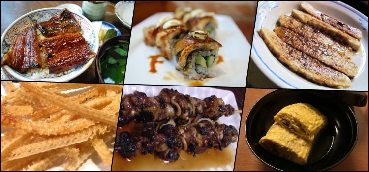 Unagi - enguias de água doce na culinária japonesa