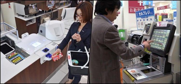 Self-checkout - Mercados com caixa automático no Japão