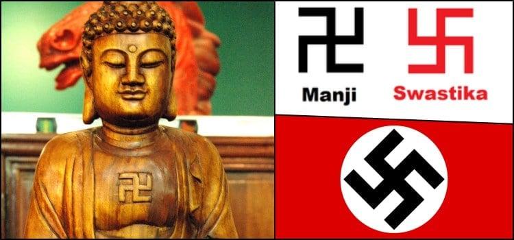 Suástica Nazista e Suástica Budista - Diferenças