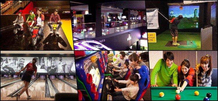 Round1 - Spocha - Os centros de diversão no Japão