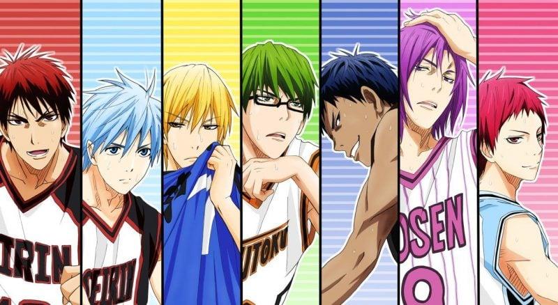 Os Melhores Animes Bishounen + Personagens bonitos - kuroku no basket 2