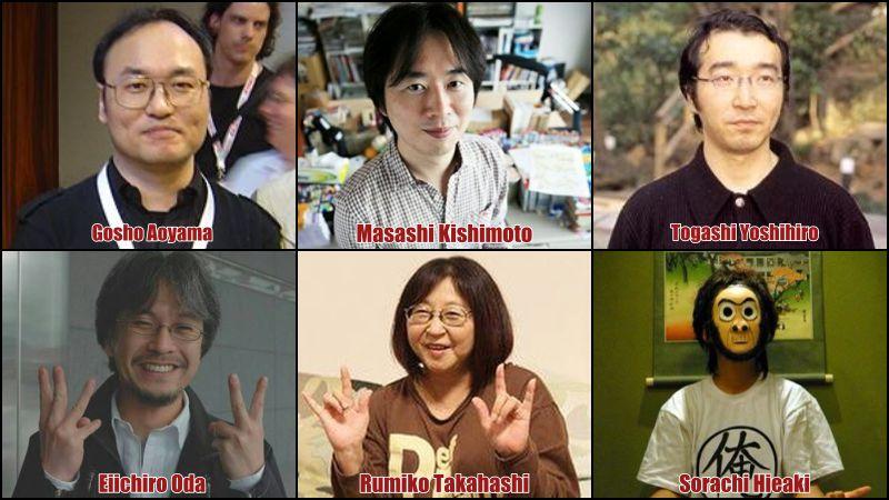 Os 20 mangakas mais populares do japão