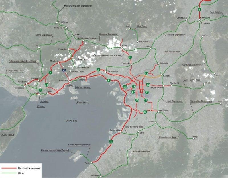 Hanshin Expressway - A via expressa que atravessa um prédio - 1