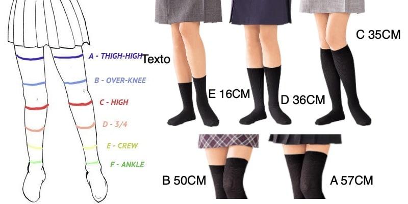 Zettai Ryouiki – O território Absoluto entre saias e meias - zettai ryouiki tipos 2