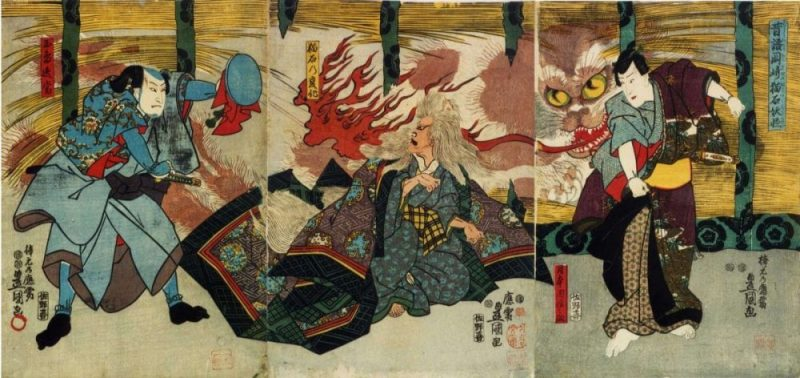 Nekomata - o gato yokai malévolo japonês