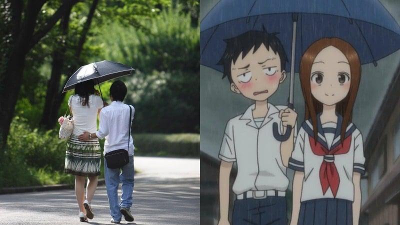 Aiaigasa - Gesto romântico de dividir o guarda-chuva
