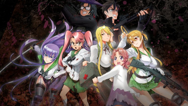 highschool of the dead - animes ecchi Lista dos melhores Animes Gore - Violentos