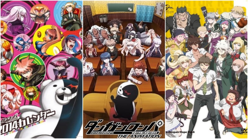 Animes with differentiated strokes and arts - danganronpa 4