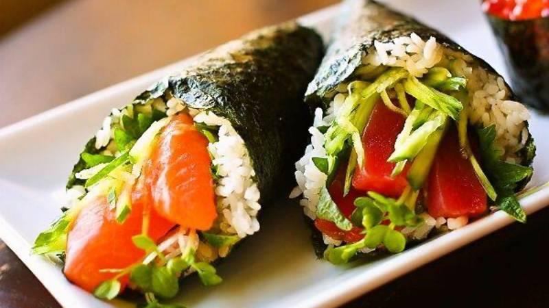 Temaki - sushi en forma de cono