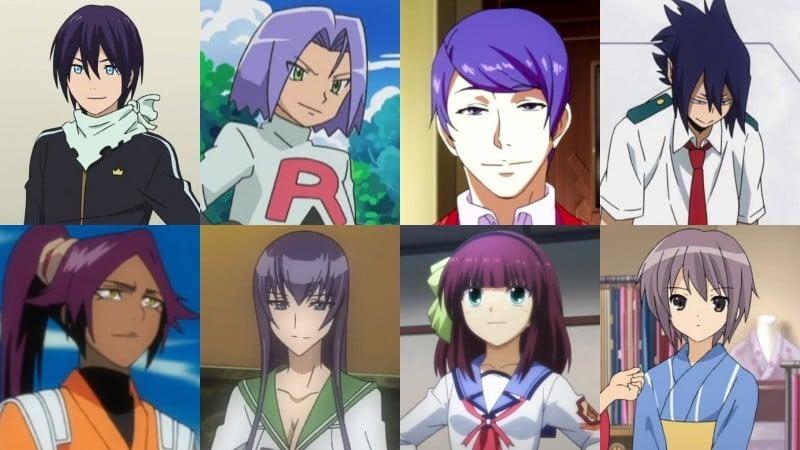 Ý nghĩa của màu tóc trong anime - màu tím